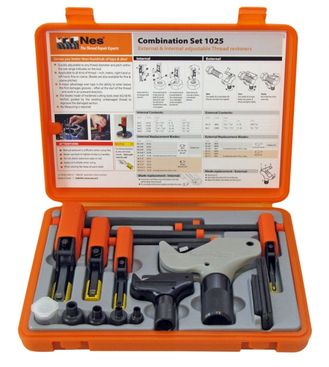 Kombinovaná sada nástrojů NES na opravu vnitřních a vnějších závitů Nes1025 Combination