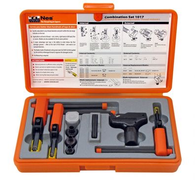 Kombinovaná sada nástrojů NES na opravu vnitřních a vnějších závitů Nes1017 Combination