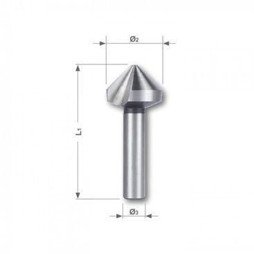 Kuželový a odhrotovací záhlubník HSS, tvar C, 90°