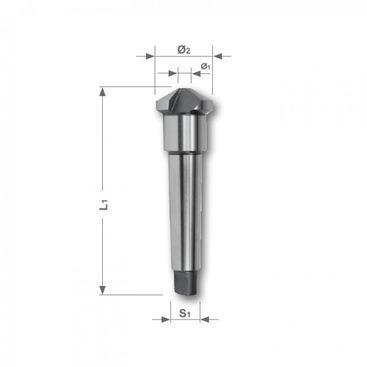 Kuželový a odhrotovací záhlubník HSS, tvar D, 120°