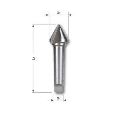 Kuželový a odhrotovací záhlubník HSS, tvar D, 60°