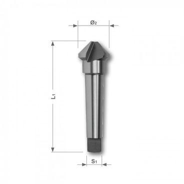Kuželový a odhrotovací záhlubník HSS, tvar D, 90°